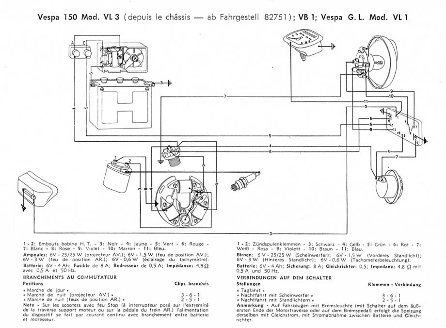 scooter help vespa 150 vl3t rh scooterhelp com Light Switch Wiring Diagram Ciao Vespa Wiring-Diagram