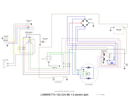 LDA.electric.start scooter help 150 lda series 2&3 electrical diagram lambretta 12v wiring diagram at bakdesigns.co