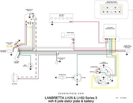 scooter help li 125 series 3 rh scooterhelp com lambretta electronic wiring diagram lambretta varitronic wiring diagram