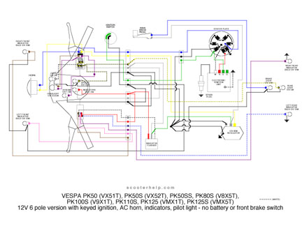 scooter help vespa pk rh scooterhelp com Vespa 200L Wiring Diagram 05 Vespa GT200 Ignition Wiring-Diagram