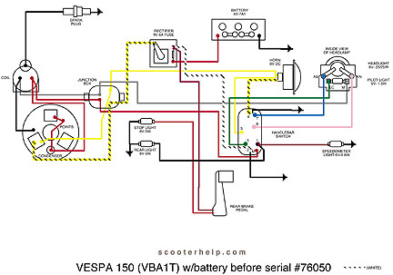 Vespa vba wiring diagram diy wiring diagrams scooter help vespa 150 vba1t rh scooterhelp com vespa light switch wiring diagrams ciao vespa wiring diagram cheapraybanclubmaster