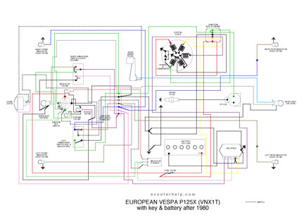 VNX1T_Euro_after scooter help p125x (vnx1t) vespa p125x wiring diagram at highcare.asia