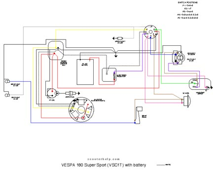 Vespa 180 wiring diagram wiring diagram database scooter help 180 super sport vsc1t rh scooterhelp com vespa 200l wiring diagram 05 vespa light cheapraybanclubmaster Choice Image
