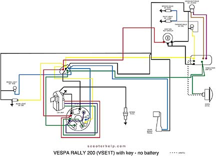 scooter help rally 200 vse1t electronic electrical diagram vse1t electronic
