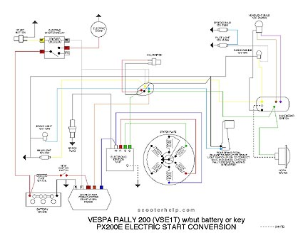 VSE1.w.PX200.batt.engine scooter help vse1t to px200 elestart vespa px 200 wiring diagram at readyjetset.co