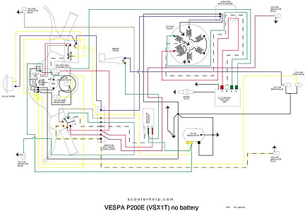 VSX1T.no.battery scooter help p200e (vsx1t) vespa p200 wiring diagram at bakdesigns.co