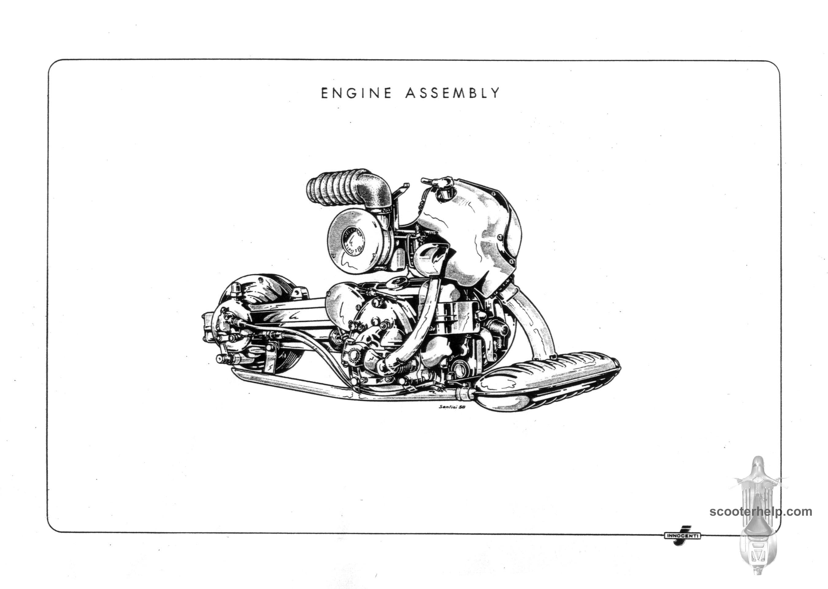 Lambretta D Ld Parts Book Chainsaw Engine Schematics If You Prefer A Slightly Lower Resolution 100 Dpipdf File Of All The Pages Click Here For 27 Mb Download