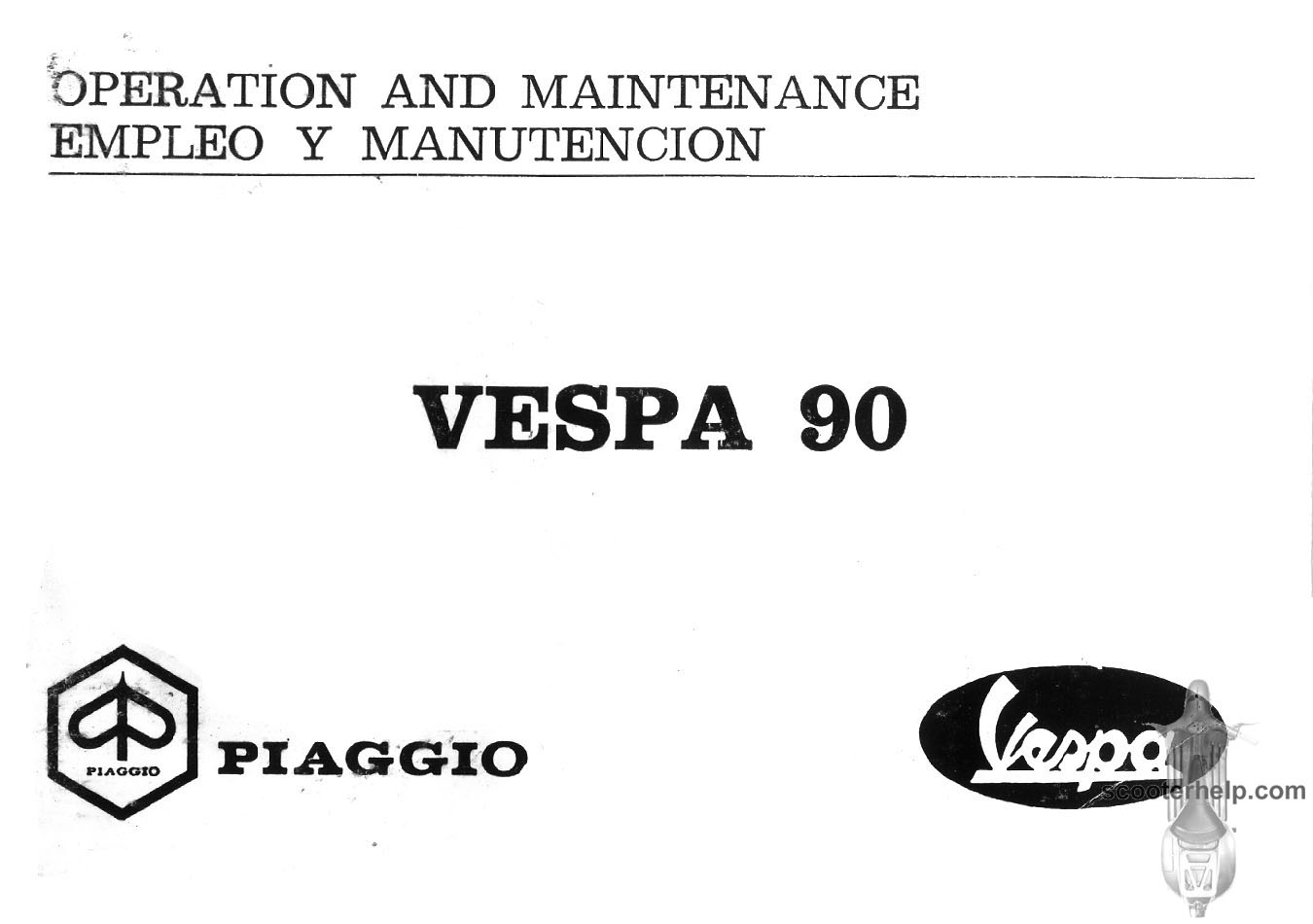 Vespa V90 Wiring Diagram Trusted Vna 90 Owners Manual 150cc Scooter