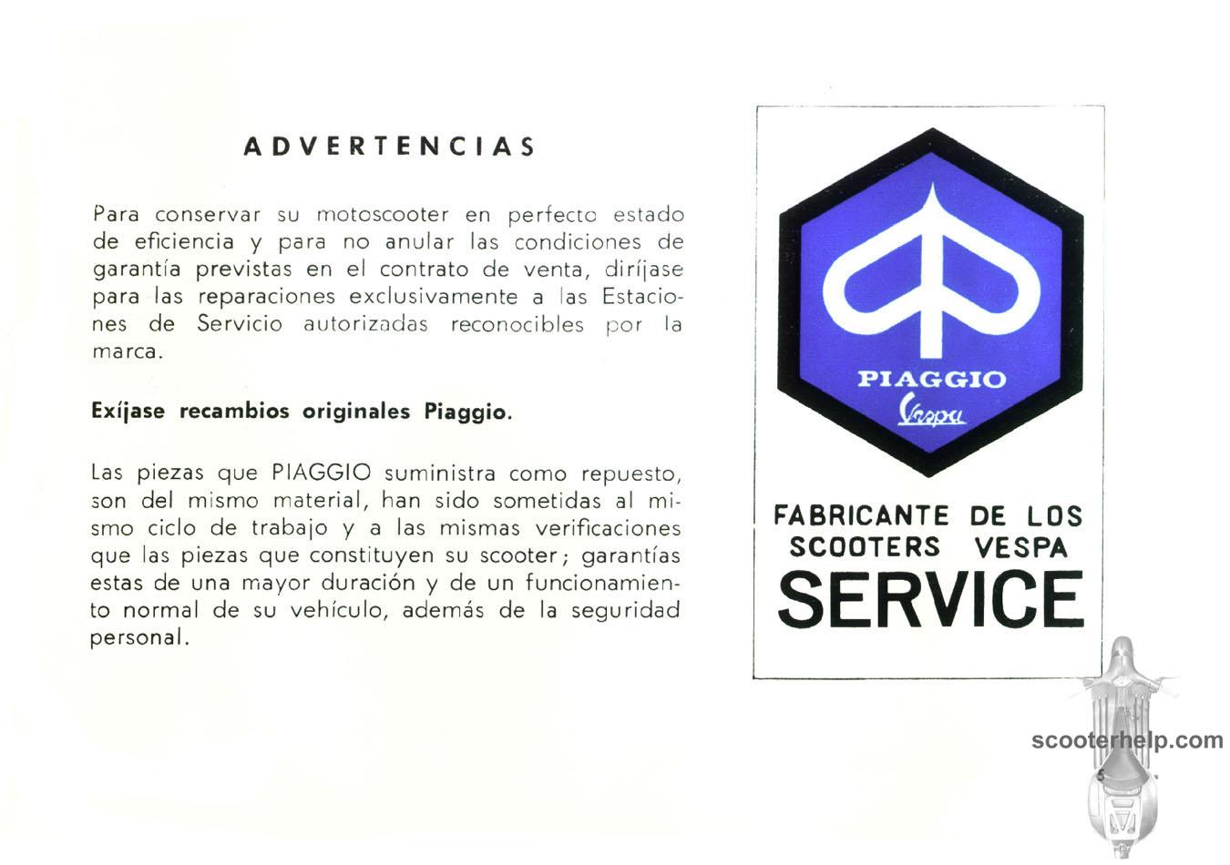 Vespa 90 Owners Manual