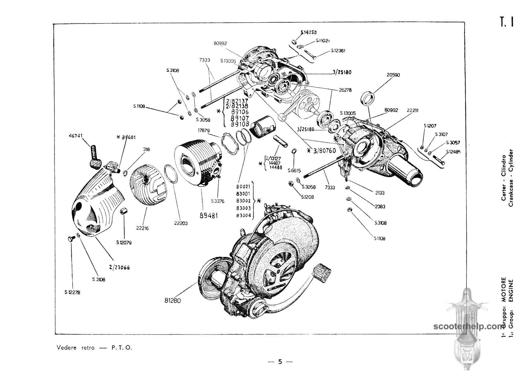 Vespa 150 Engine Diagram Wiring And Ebooks Lx Vb1t Parts Manual Rh Scooterhelp Com Diagrams Scooter Electrical