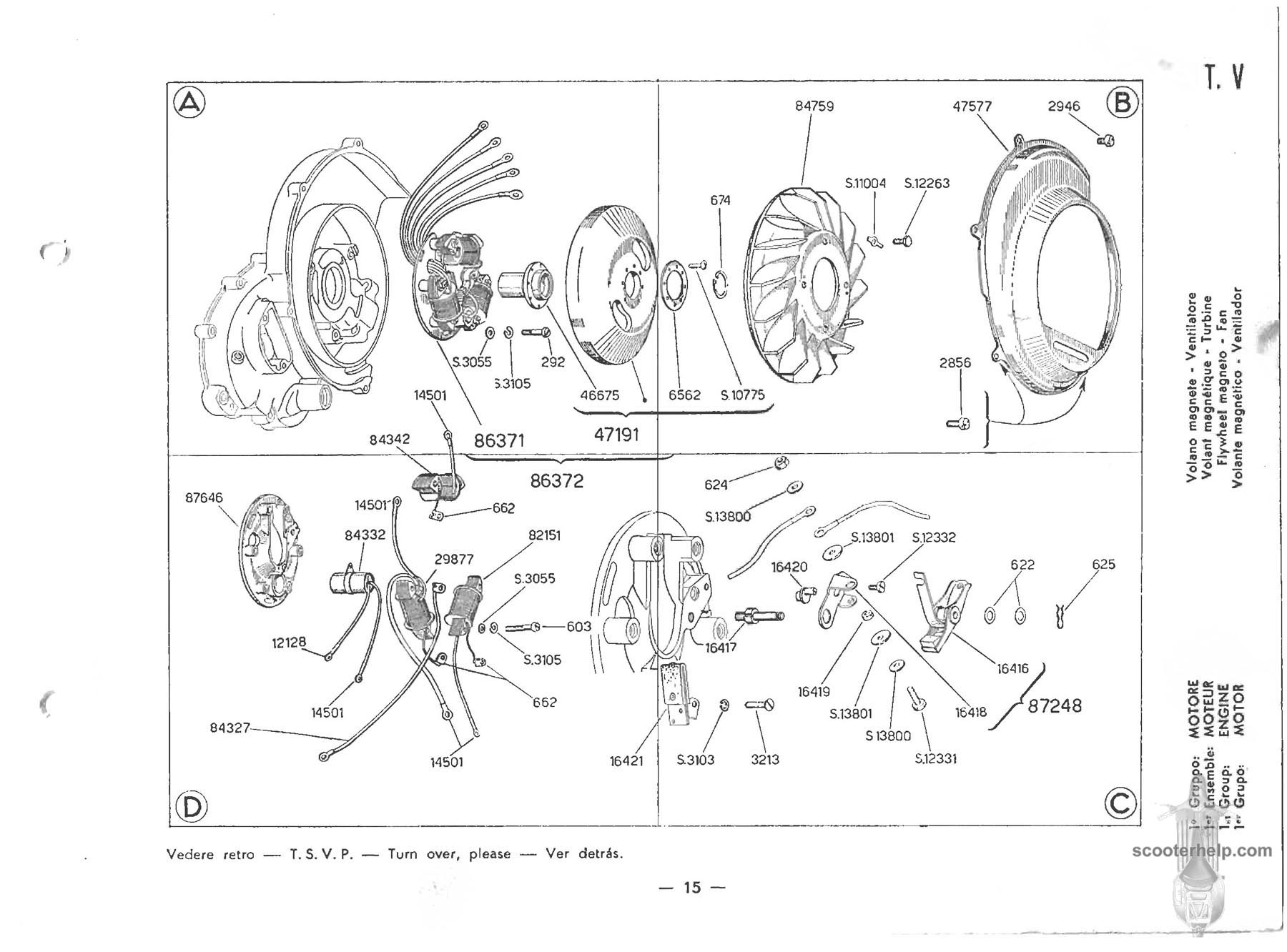 20 vespa 150 (vbb1t) parts manual,Vespa Sportique Wiring Diagram