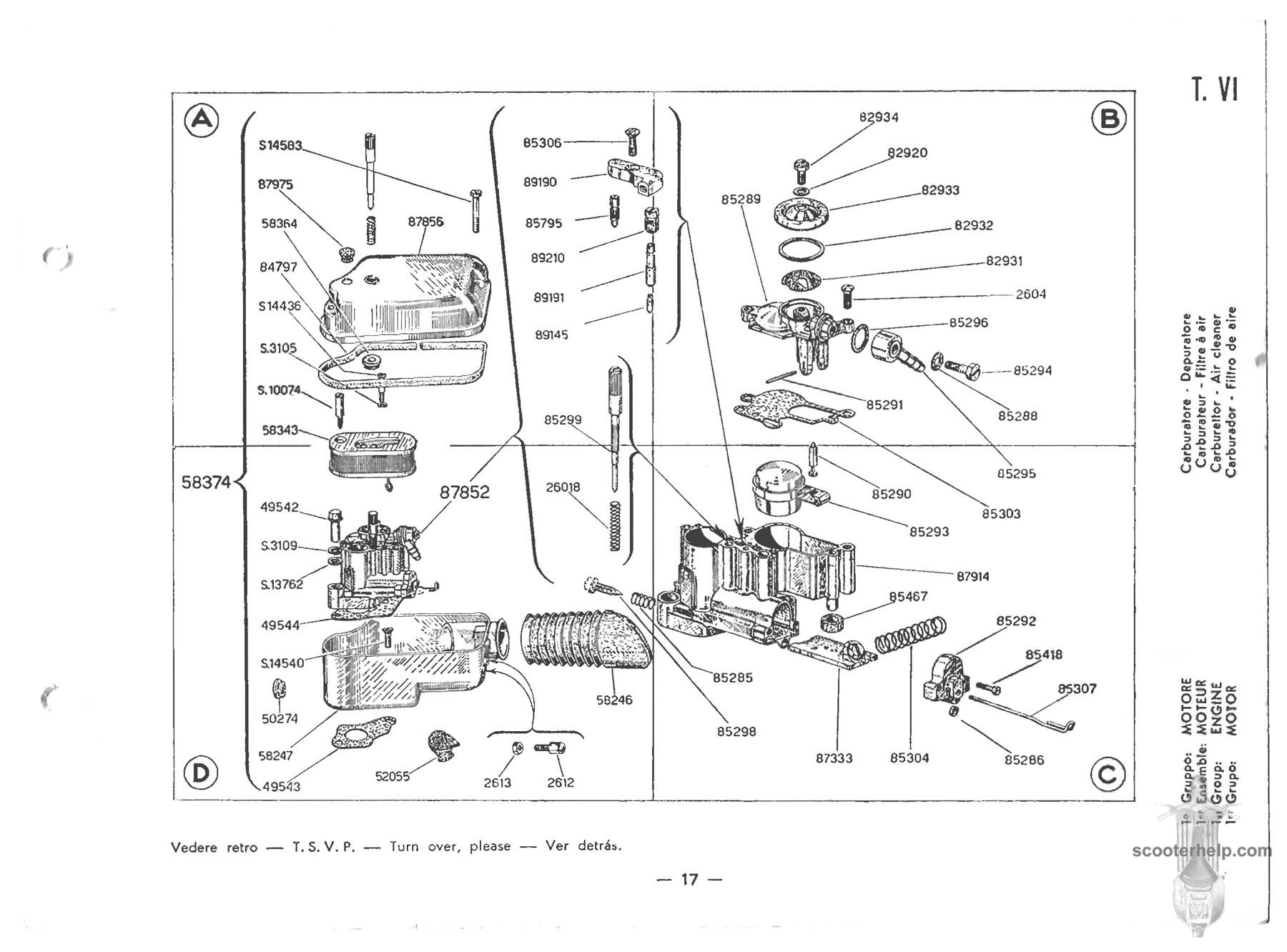Vespa 150 Vbb1t Parts Manual Vba Wiring Diagram Or Click Here For A 101mb Pdf File