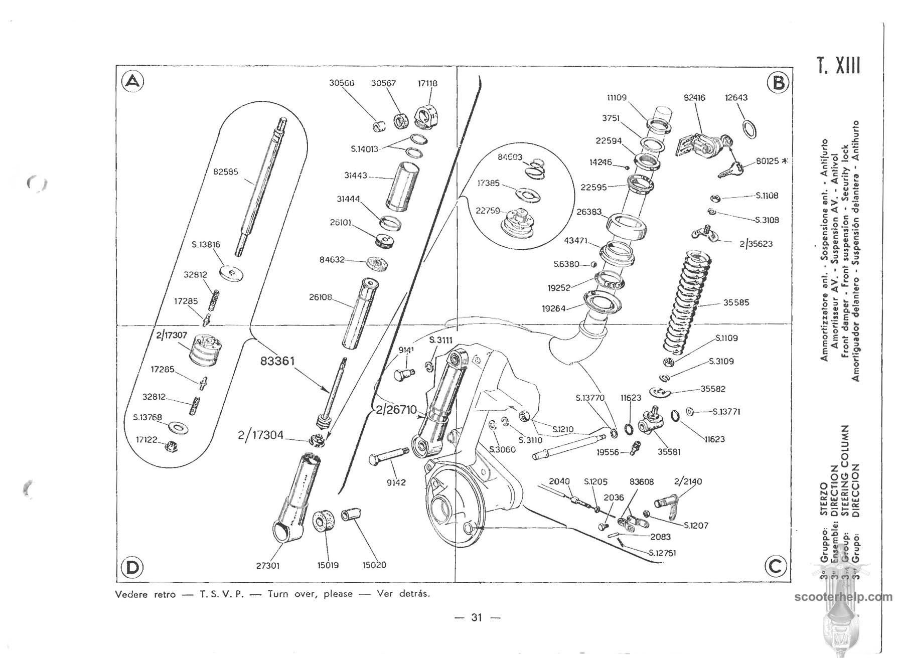 36 vespa 150 (vbb1t) parts manual,Vespa Sportique Wiring Diagram