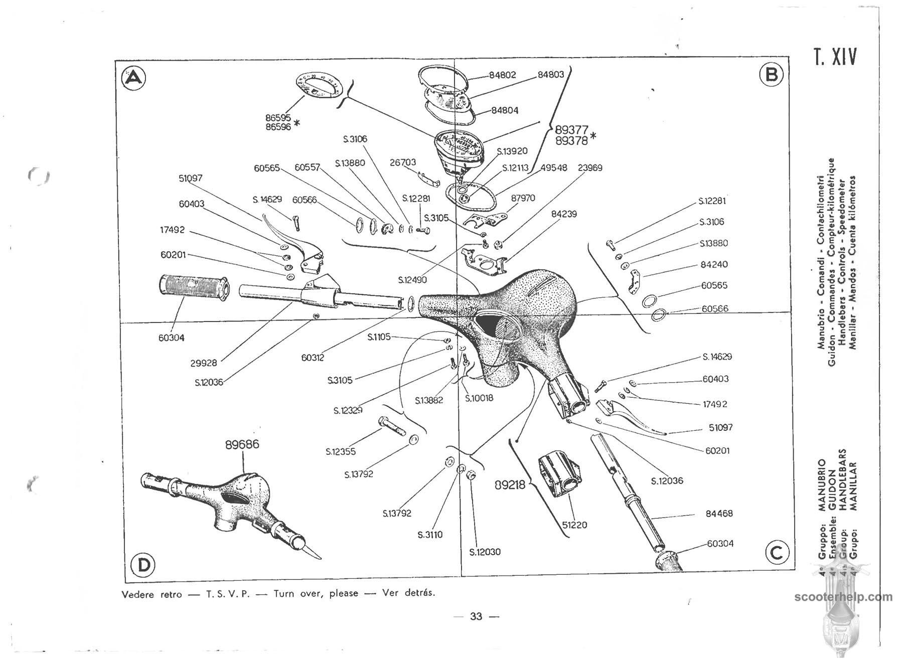 Vespa Px Wiring Diagram Page 4 And Schematics Px125e P200 Fuse Box Source 150 Vbb1t Parts Manual Rh Scooterhelp Com Et4