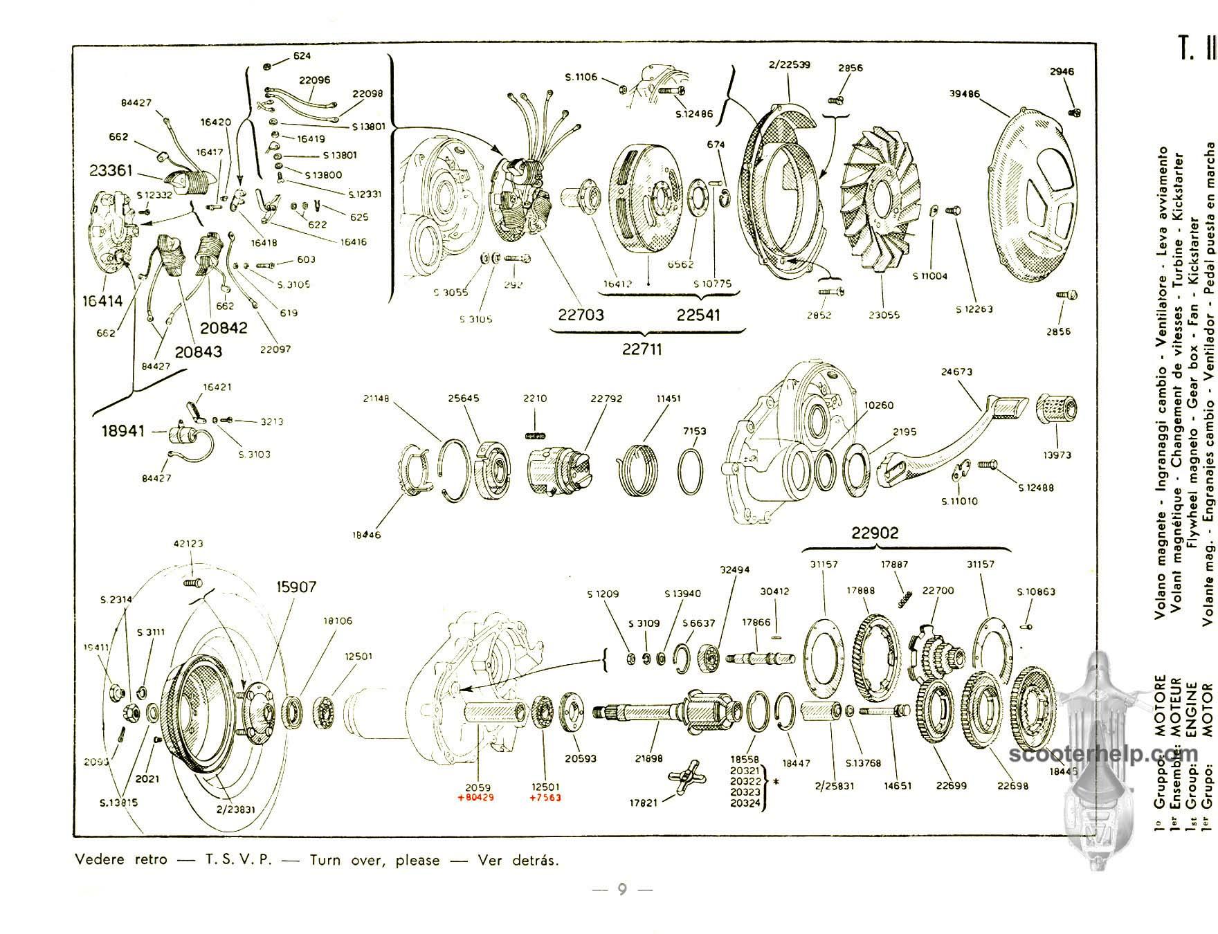 Wiring Diagram Vespa Vl1 Great Installation Of Gts 150 Vl1t Vl3t Parts Manual Rh Scooterhelp Com Chetak 6v 1984 250