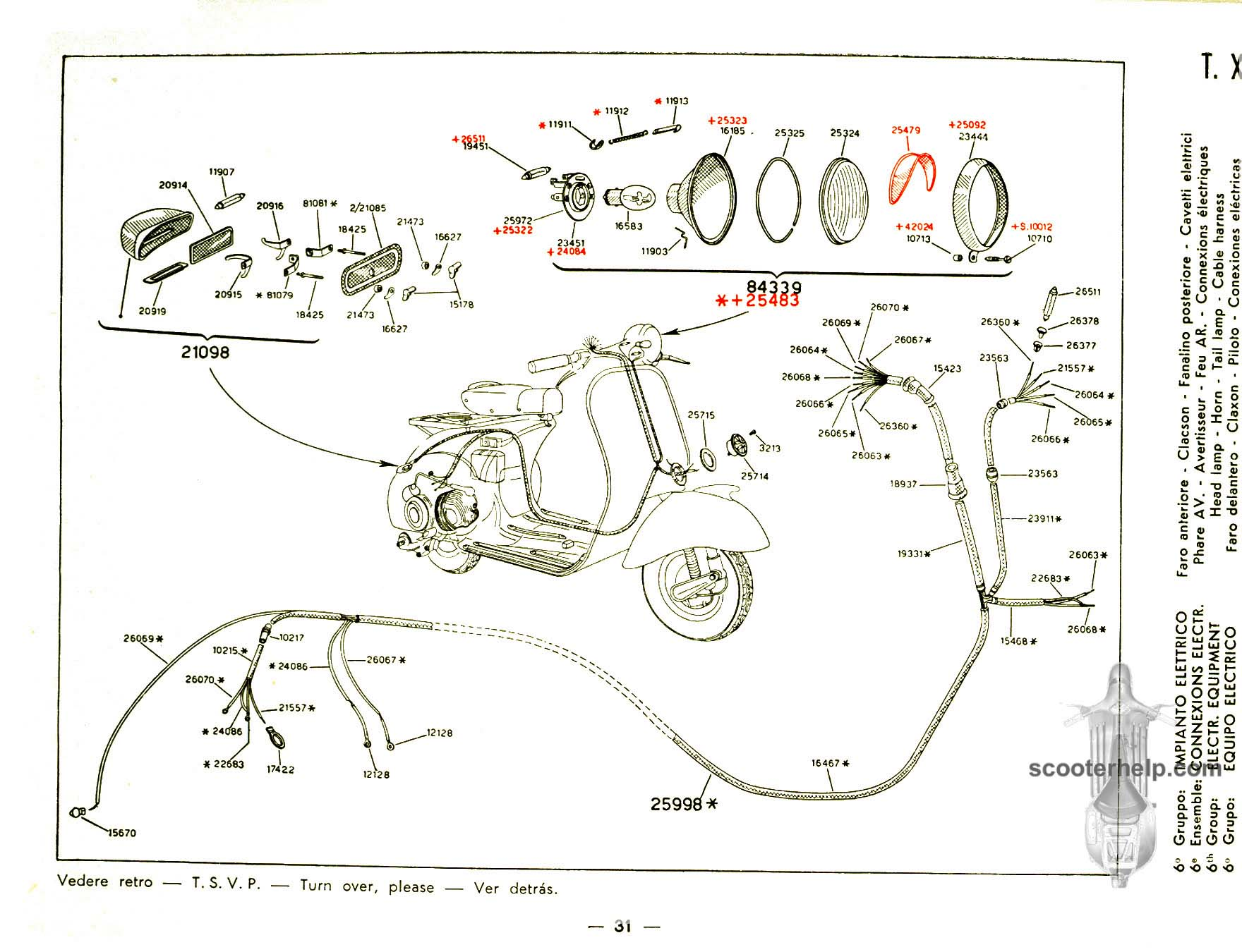 Wiring Diagram Vespa Vl1 Nice Place To Get Et3 150 Vl1t Vl3t Parts Manual Rh Scooterhelp Com Scooter Schematic Electrical
