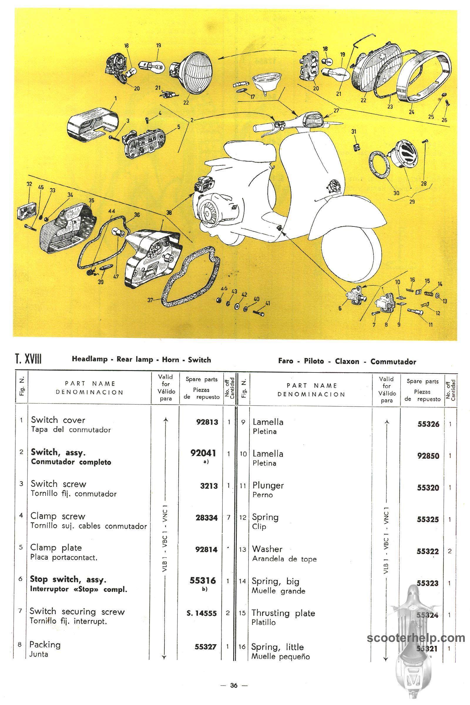 Vespa 150 Super Sprint 125 Parts Manual Wiring Diagram Kelistrikan Px Or Click Here For A 178mb Pdf File