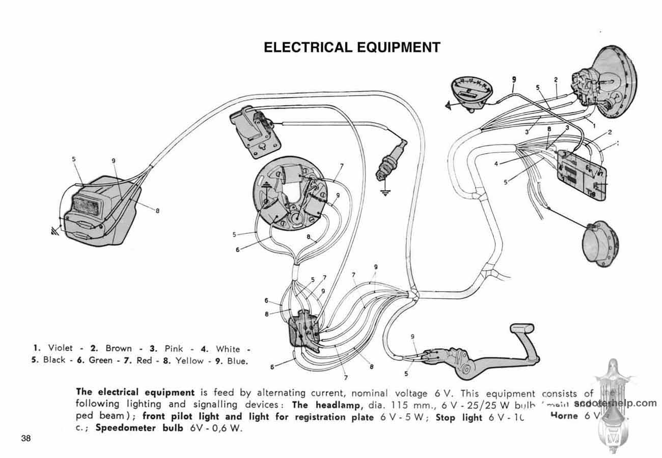 Vespa Sprint Wiring Diagram 27 Images Gl Primavera Owners Manual 38 At