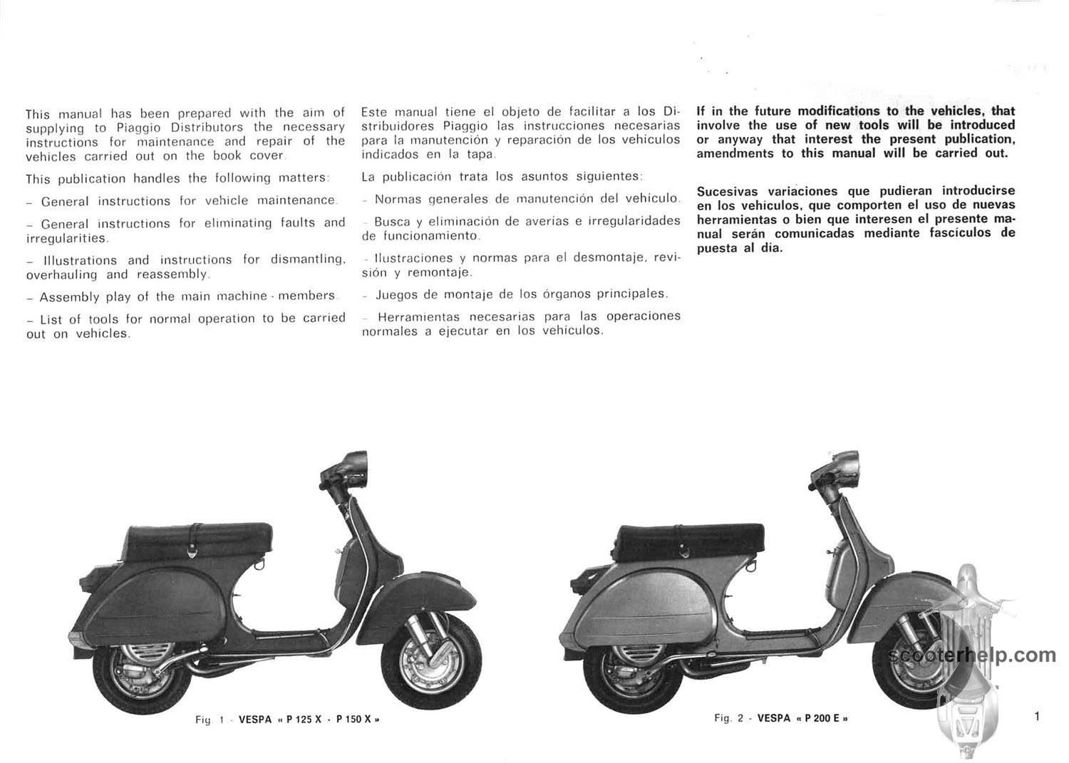 p125 p200 factory repair manual rh scooterhelp com vespa scooter repair manual vespa scooter repair manual online