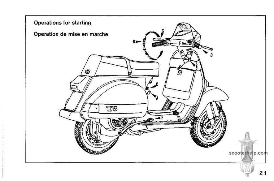 vespa t5 owner u0026 39 s manual
