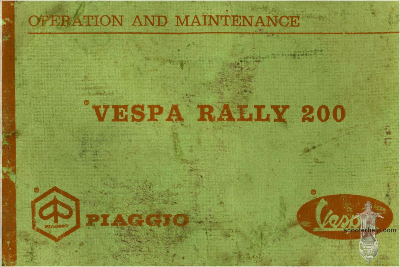 Vespa Rally 200 Owner's Manual on