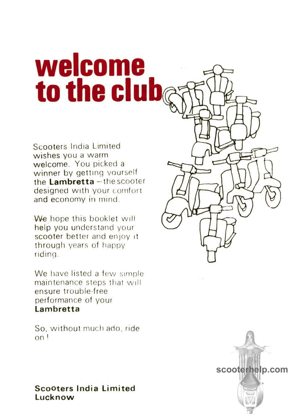 Sil Lambretta Dl 200 Owners Manual Wiring Diagram Click Individual Pages For Images Or Here A High Resolution 42mb Pdf File