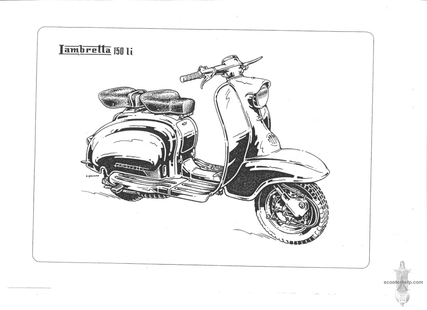 Lambretta Li150 Series I Parts Book Scooter Wiring Diagram 100 If You Prefer A Slightly Lower Resolution Dpipdf File Of All The Pages Click Here For Single 74mb Download Entire