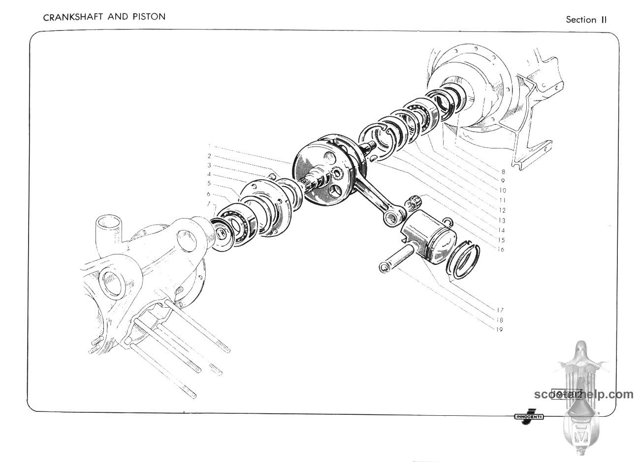 Lambretta Li125 Li150 Tv175 Series Ii Parts Book Scooter Wiring Diagram 100 If You Prefer A Slightly Lower Resolution Dpipdf File Of All The Pages Click Here For Single 74mb Download Entire