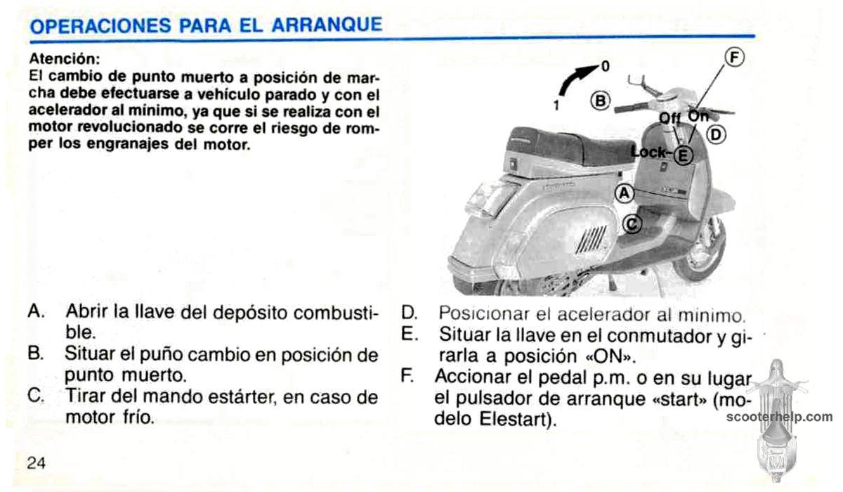 MotoVespa XL125 Owner\'s Manual